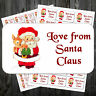 Christmas Stickers Love Santa Adhesive 38.1mm x 63.5mm Or 21.2mm x 38.1mm
