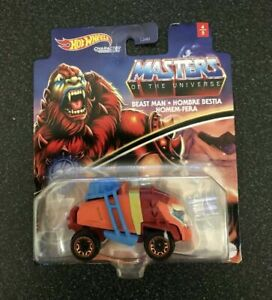 Masters of the Universe BEAST MAN Hot Wheels Character Car Mint on Card