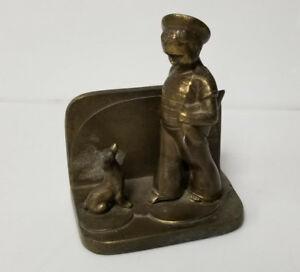 Vintage Bookend Sailor boy with dog frankart