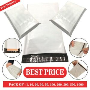 """Mailing Postage Bags Post Mail Bags 6.5 X 9"""" White Postal  Parcel Bags Self Seal"""