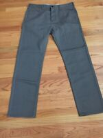 Dockers Men's Soft Khaki D1 Slim Flat Front Pant GRAY 36X32
