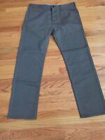 Dockers Men's Soft Khaki D1 Slim Flat Front Pant GRAY 36X32