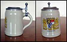 Collectible Vintage BAYERN 0.5L Beer Lidded tankard Height 15cm Weight 679g