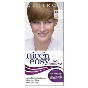 Clairol Nice n Easy Demi Permanent Hair Dye No Ammonia Ash Blonde 73