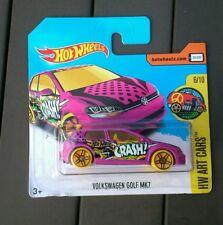 Hot wheels volkswagen golf mk7 art cars new sealed short card 2017 pink