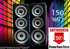 TechSound Coppia Casse Audio Passive 150 Watt Max 3 Vie Compatte Design Moderno