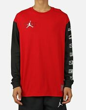 Nike Air Jordan AJ11 Legacy Long Sleeve T-Shirt Red Black CU1072-687 Men's NWT