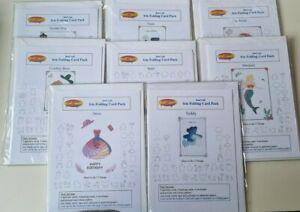 DeeCraft Iris Folding Card Pack x 8 - Mixed Lot
