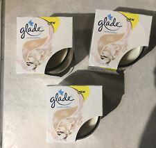 3x Glade Candle Sheer Vanilla Blossom 120g New