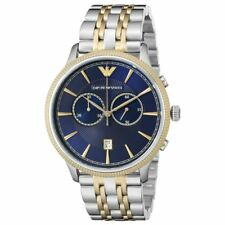 Emporio Armani AR1847 Alpha Classic Navy Blue Dial Two-tone Chronograph Watch