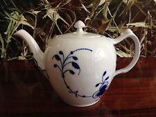 Royal Copenhagen Mega Blue Ribbed/blue Fluted Mega Teapot 1 0 Litre