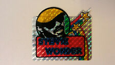Stevie Wonder American singer artist SMALL STICKER Vintage logo music