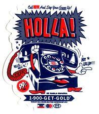 Gold Wheels Skateboard Sticker - Holla 10.5cm high approx skateboarding hip hop