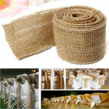 Natural Jute Hessian Burlap Ribbon Rustic Weddings Belt Strap Floristry 3M Hot.