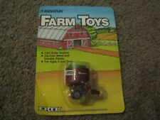 VINTAGE ERTL FARM TOYS HESSTON ROUND BAIL WAGON 1/64 1986 NEW IN PACKAGE FS