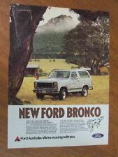 1982 Ford Bronco XLT original Australian full page advertisement