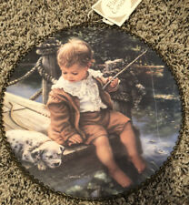 Gallery Graphics Fishing Boy Puppy Sleeping Flue Cover