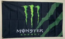 Monster Energy Drink Banner Advertising Flag Racing Garage 3x5 Promotion NASCAR