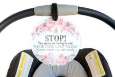 Flower Tag - STOP! Your germs are too big for me! PLEASE LOOK, DON'T TOUCH!