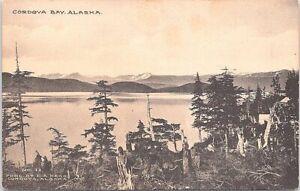 Lithograph Cordova Bay AK Panoramic Scene early 1900s
