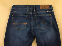 LUCKY BRAND Womens Stretch Sofia Boot Blue Jeans Tag Size 4/27 Actual 28x32