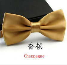 Champagne Men Butterfly Cravat Bow Tie Formal Commercial Marriage Bow Tie