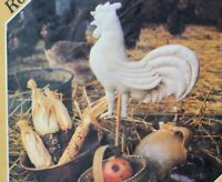 Vtg fabric rooster weathervane style pattern 3 sizes Farmhouse crafts