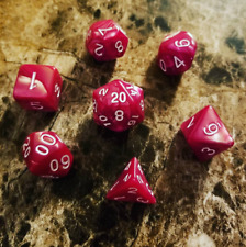 Magenta Pearl Dice Set Polyhedral DND Dungeons and Dragons Pathfinder