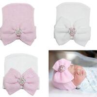 Kids Baby Girl Infant Beanie Hat Bow Knot Turban Cap Newborn Head Wrap Headband