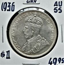1936 Canada $1 Silver Dollar