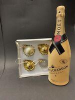 Moet Chandon Impérial Champagner 0,75l +Diamond Suit 12%Vol + 4 Weihnachtskugeln