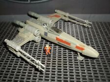 STAR WARS ACTION FLEET WEDGE ANTILLES BATTLE DAMAGED X-WING FIGHTER OF YAVIN SET