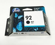 Genuine Original HP 92 Black Cartridge New Unopened Oct 2021