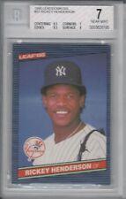 RICKEY HENDERSON 1986 LEAF DONRUSS BGS 7 NEW YORK YANKEES  BASEBALL CARD #37