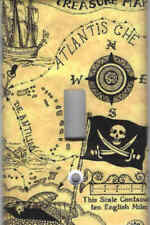 PIRATE TREASURE MAP HOME WALL DECOR LIGHT SWITCH PLATE COVER