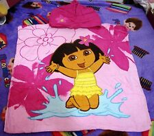 100%Cotton120x60cm Swim Dora the Explorer Poncho Beach Bath Hooded Towel NEW