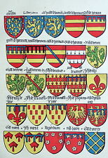 Héraldisme Blason Toison d'or Ecusson Armoiries Normandie Harcourt Alencon Tilly