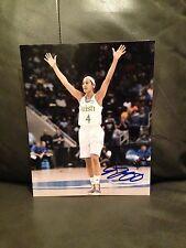 Skylar Diggins Signed Auto 8X10 Photo Basketball Shock Wnba Notre Dame Coa A