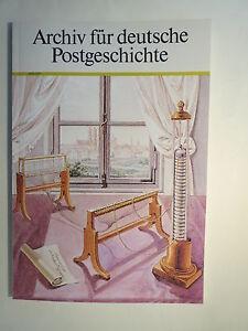 Archiv für deutsche Postgeschichte - Heft 2 - 1987