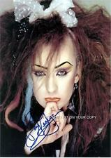 Boy George Culture Club 3 Preprints Photos Autograph 8x10 O'Dowd Jesus Loves You