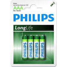 4 Piles Philips Longlife R03 Micro AAA Alkaline