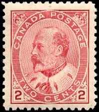 Canada #90 mint F-VF OG NH 1903 King Edward VII 2c carmine CV$177.50