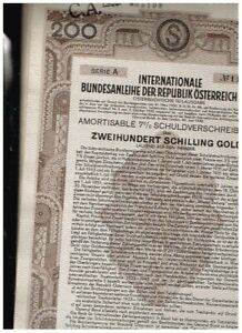 PAIR OF 1930 AUSTRIAN GOVERNMENT BOND CERTIFICATES, 1000SF AND 200AS