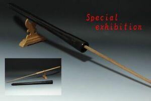 Japan Antique Edo long saya spear tsunagi set yoroi samurai katana sword Busho