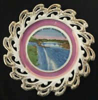 "Prospect Point Niagara Falls Souvenir Plate 8"" Gold Trim"
