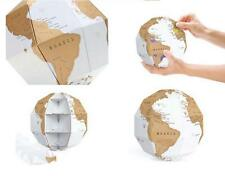 3D Scratch Off Vertical Global World Map DIY Puzzle Game Assemble Trip Planner