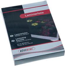 Laminierfolie DIN A5 80mic micron 100 Stück Maße: 154 x 216 mm Hochglanz NEU+OVP