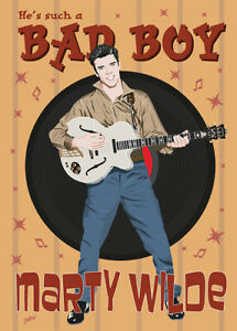 Marty Wilde Fifties style poster - (signed) Art Print - Jarod Art