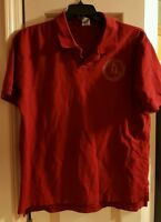 Indiana University IU Hoosiers 1820 Red Polo Shirt Mens Size XL