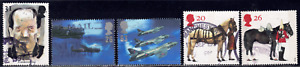 1997 Great Britain SC# 1755-1764 - F VF - Aircraft - 5 Different Stamps - Used